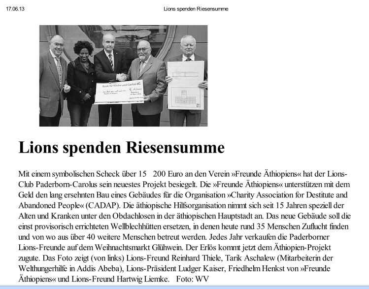 You are currently viewing Lions spenden Riesensumme